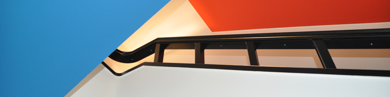 Farbleitsystem Treppenhaus